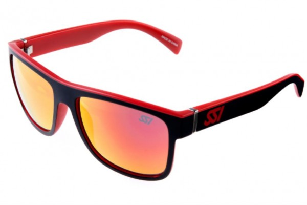 SSI High Quality Sunglasses - Black Frame with Red Lenses